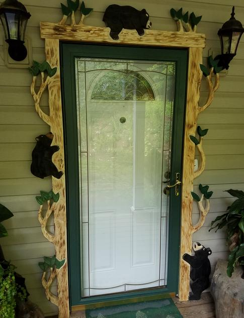 Enhance your entry door with DJu0027s hand crafted door trim - Prices vary - & Custom Carved Screen Doors ***Shipping Available***