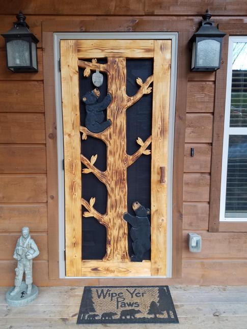 Custom Carved Screen Doors Shipping Available